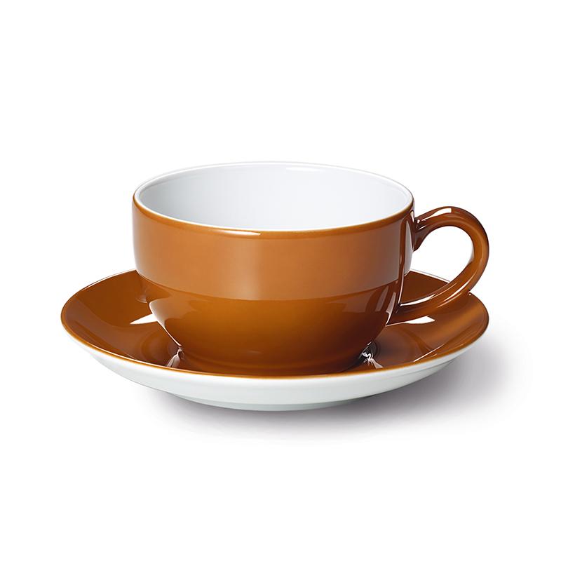 Cappuccino-Obertasse 0,30 l Solid Color Karamell Dibbern