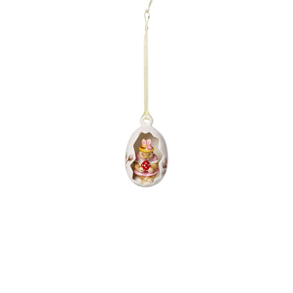 Ei-Ornament Anna, Blüten rosa 4,5x4,5x7cm Bunny Tales Villeroy und Boch