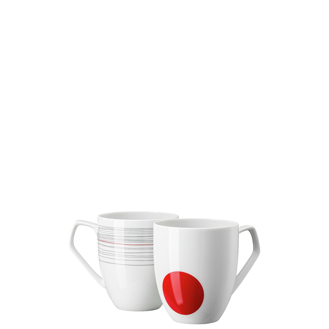 Set 2 Becher mit Henkel TAC Gropius Stripes 2.0 Rosenthal Studio Line