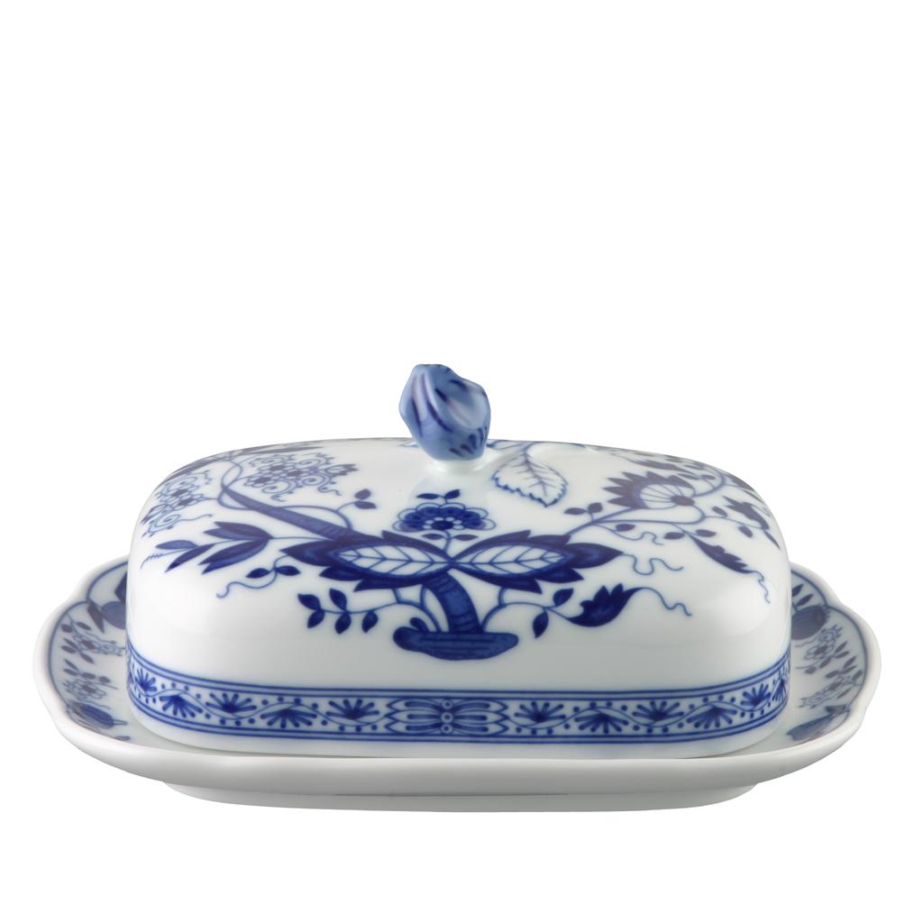 Butterdose Blau Zwiebelmuster Hutschenreuther