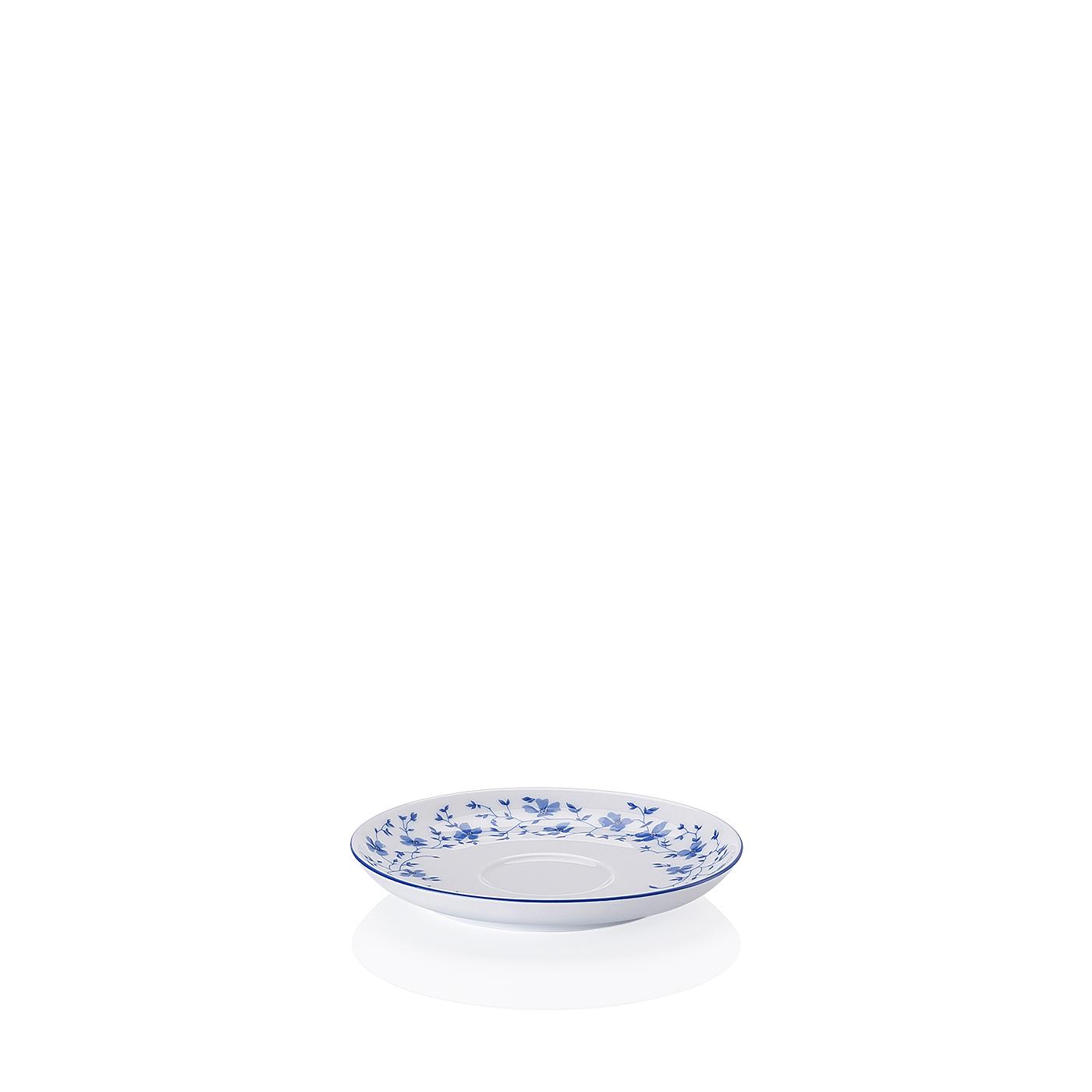 Kaffee-Untertasse Form 1382 Blaublüten Arzberg
