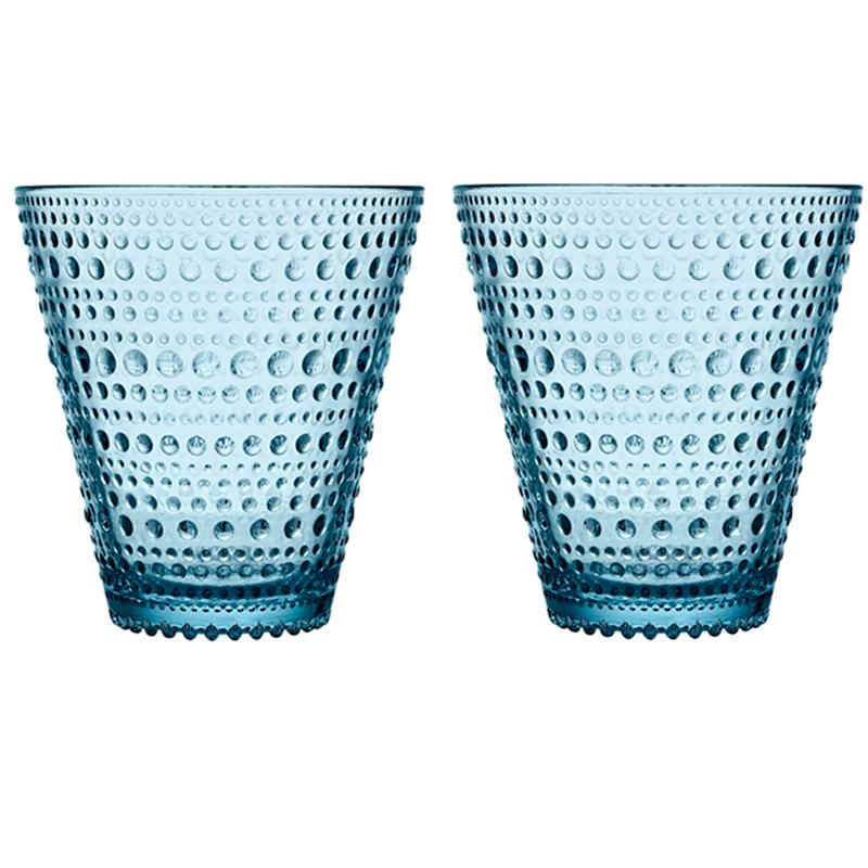 Glass – 300 ml - Hellblau - 2 Stück Kastehelmi Iittala