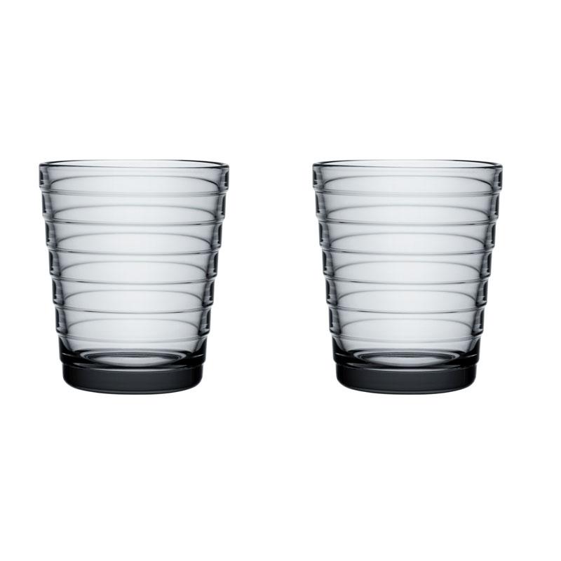 Glass – 220 ml - Grau - 2 Stück Aino Aalto Iittala