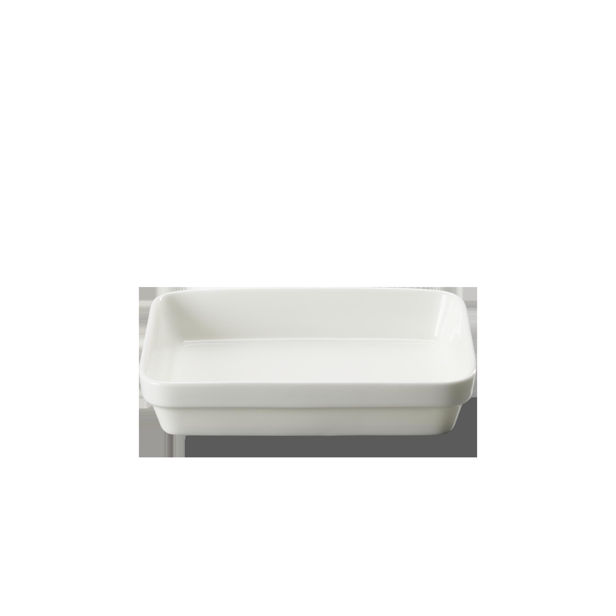 Auflaufform 19x17x4 cm Fine Bone China Weiss Dibbern