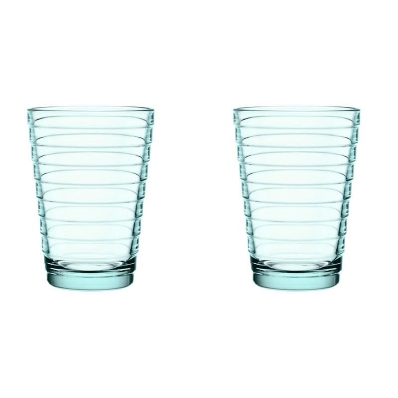 Glass – 330 ml – Wassergrün - 2 Stück Aino Aalto Iittala