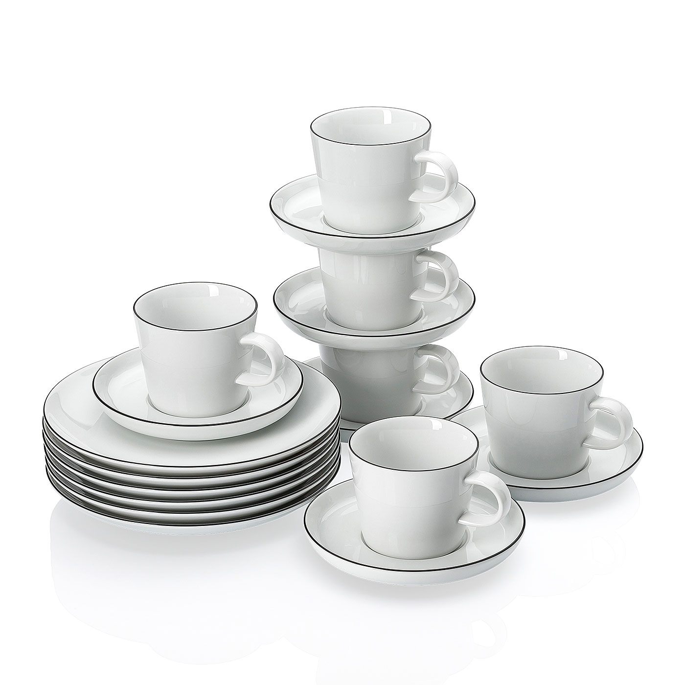 Kaffeeset 18-tlg. GK Cucina-Basic Colori Black Arzberg