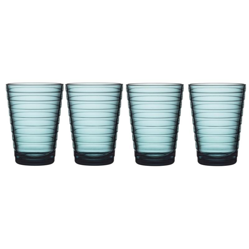 Glas – 330 ml - Seeblau - 4 Stück Aino Aalto Iittala