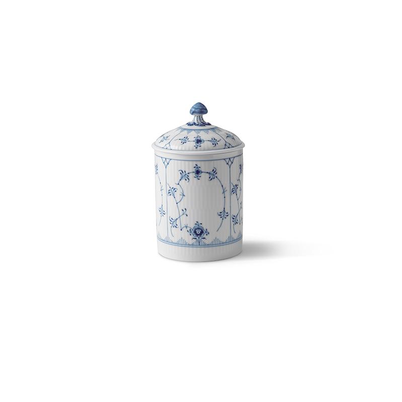 Dose mit Deckel - 16 cm  Blue Fluted Plain Royal Copenhagen