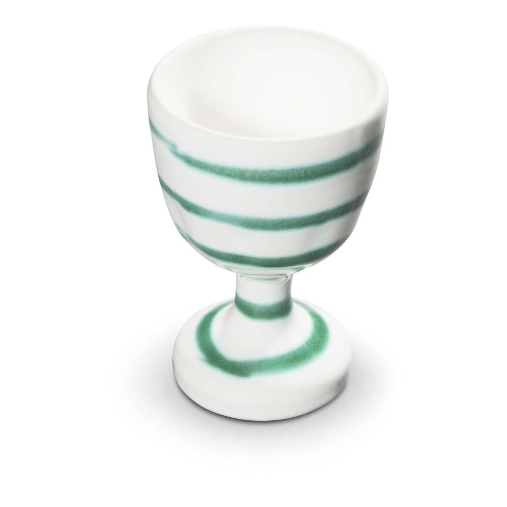 Eierbecher (H: 7,5cm) Grüngeflammt Gmundner Keramik