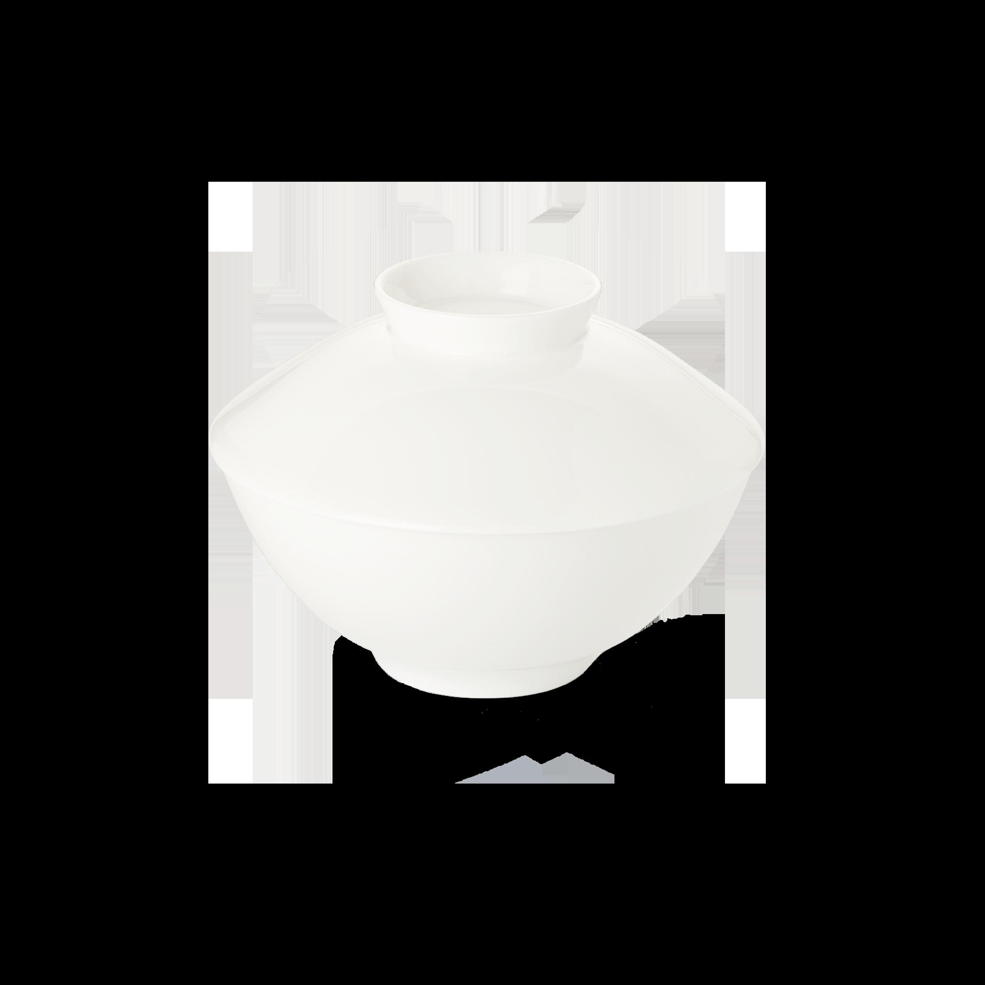 Deckel für Suppenschale 14 cm Fine Bone China Asia Line Weiss Dibbern