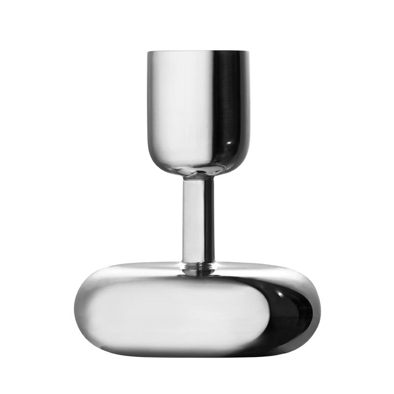Kerzenständer - 10,7 cm - Silber Nappula Iittala