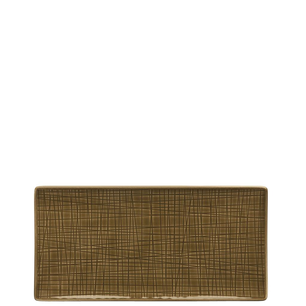 Platte flach 26x13 cm Mesh Colours Walnut Rosenthal