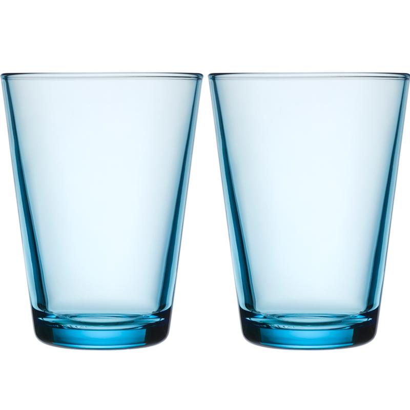 Glass – 400 ml - Hellblau - 2 Stück Kartio Iittala