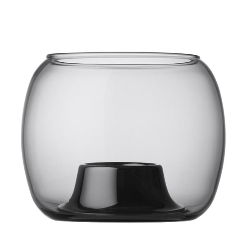 Windlicht – 14,1 x 11,5 cm - Grau Kaasa Iittala