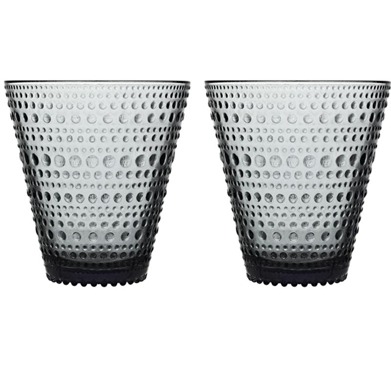 Glass – 300 ml - Grau - 2 Stück Kastehelmi Iittala