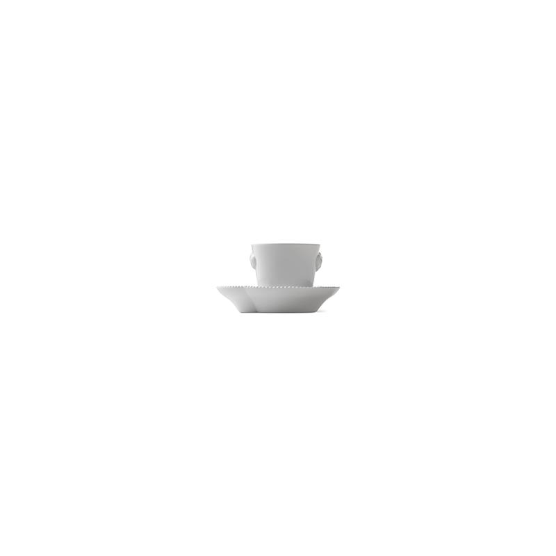 Espressotasse mit Untertasse - 100 ml White Elements Royal Copenhagen