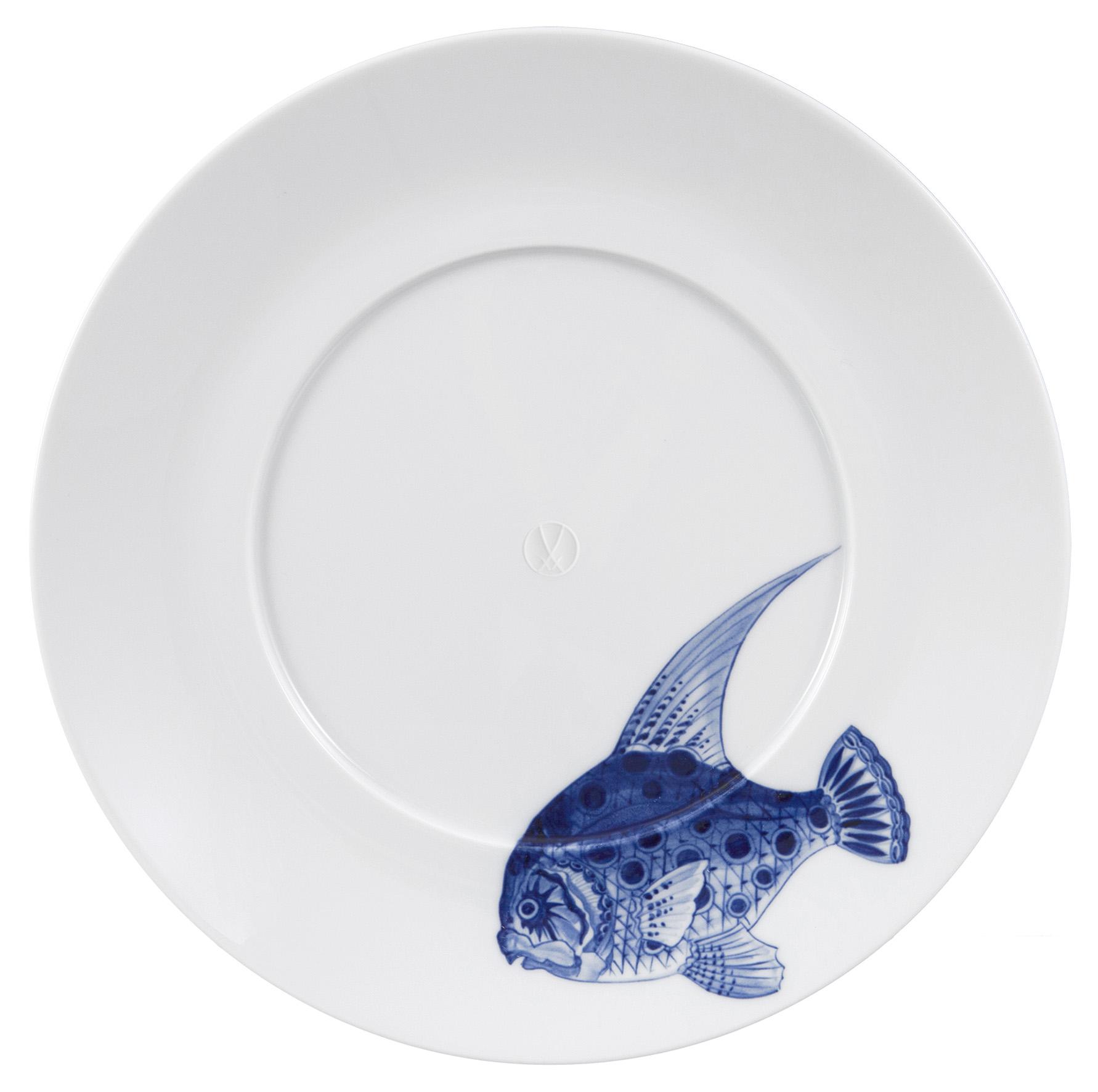 Gourmetteller 28,5cm, Motive Fisch Cosmopolitan Meissen
