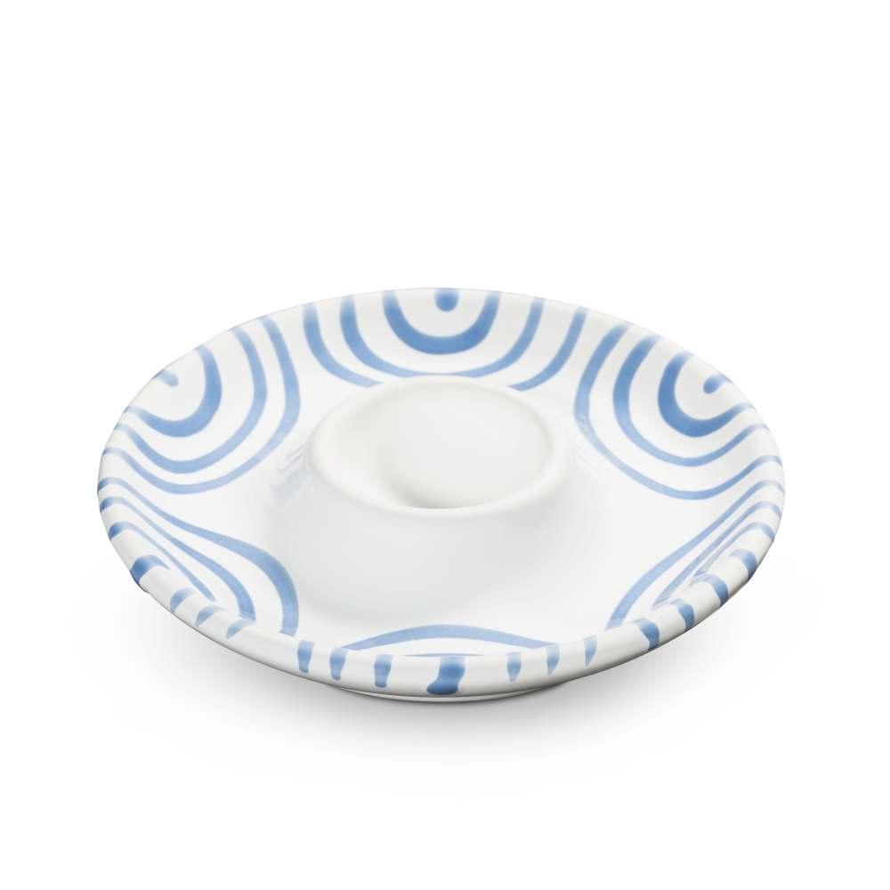 Eierbecher (Ø 12 cm) Blaugeflammt Gmundner Keramik