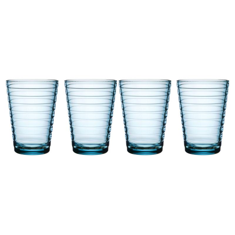 Glas - 330 ml - Hellblau - 4 Stück Aino Aalto Iittala