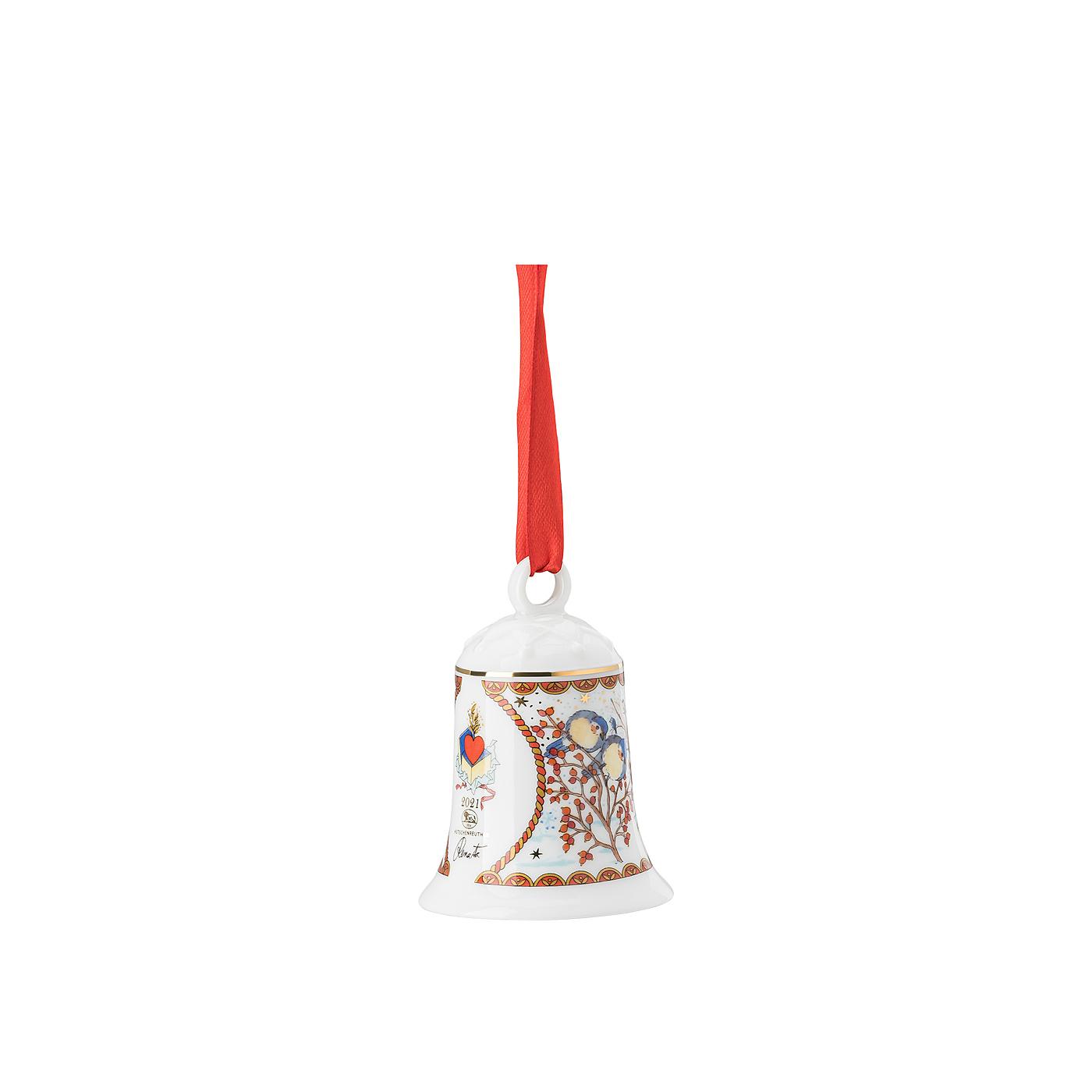 Porzellanglocke Porzellanglocke Weihnachtsglocke 21 Hutschenreuther