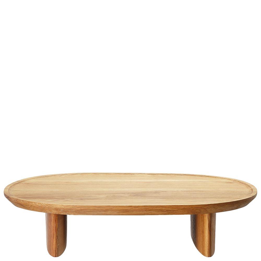 Tablett auf Fuß 35x30 cm Junto Holz Rosenthal