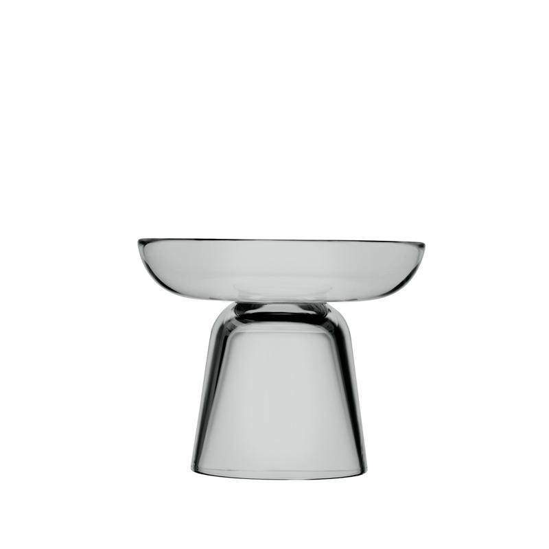 Säulen-Kerzenständer – 10,7 cm - grau Nappula Iittala