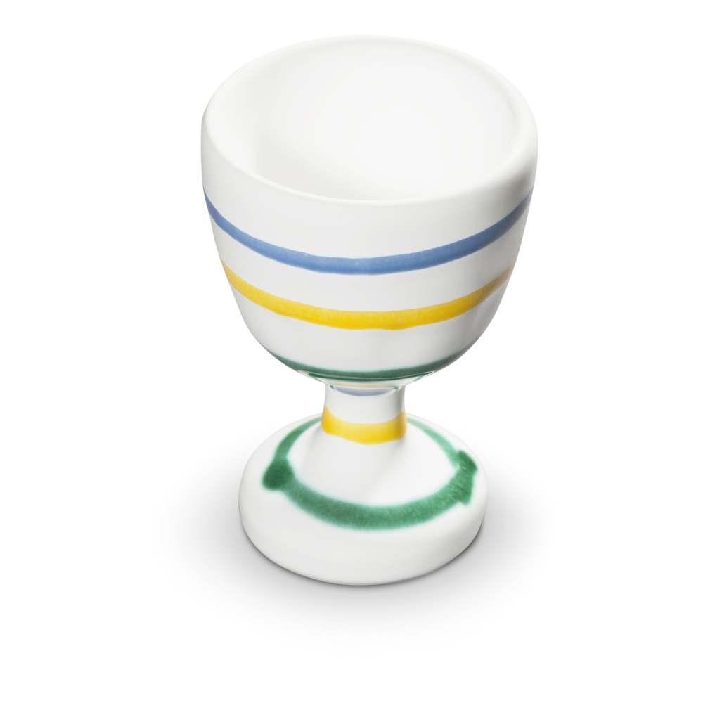 Eierbecher (H: 7,5cm) Buntgeflammt Gmundner Keramik
