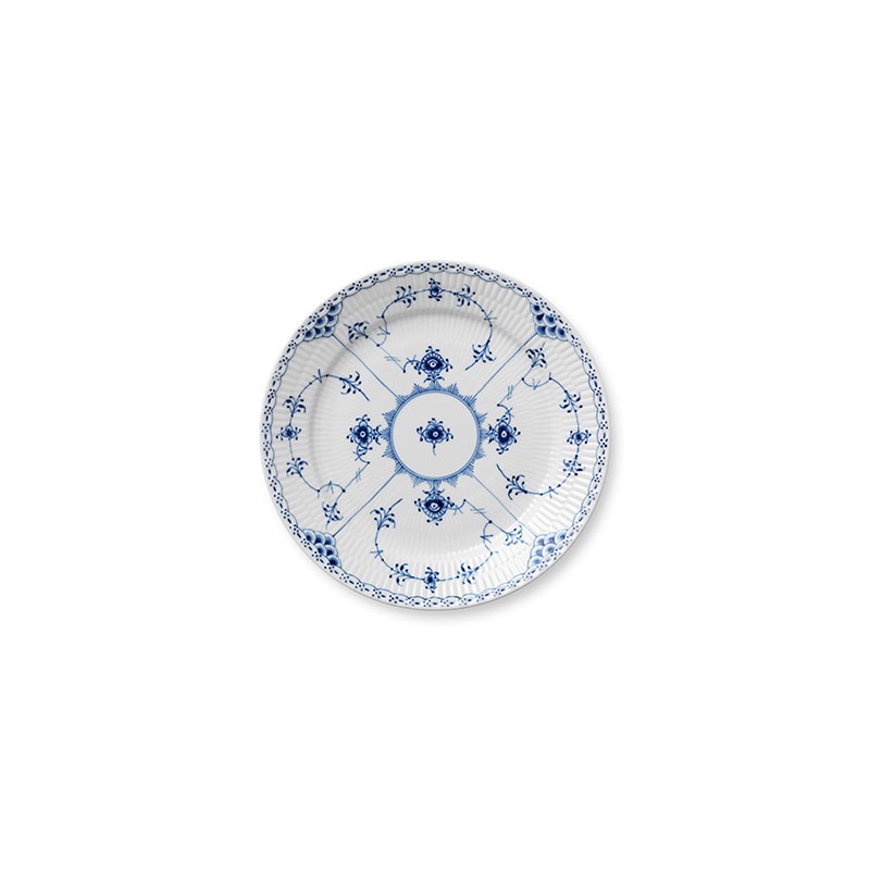 Speiseteller - 25 cm Blue Fluted Half Lace Royal Copenhagen