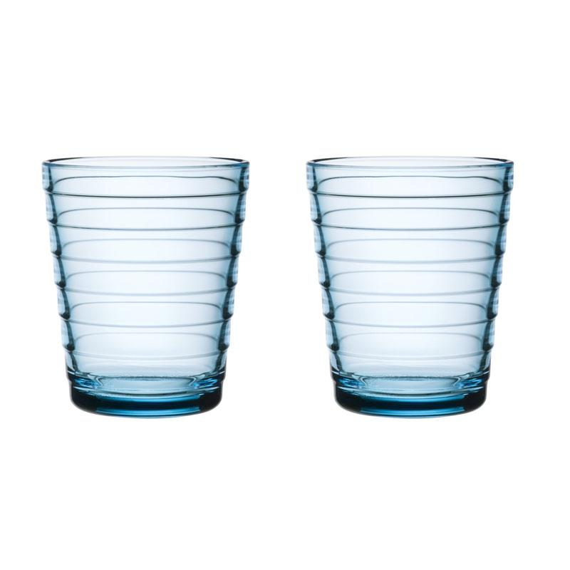 Glas – 220 ml - Hellblau - 2 Stück Aino Aalto Iittala