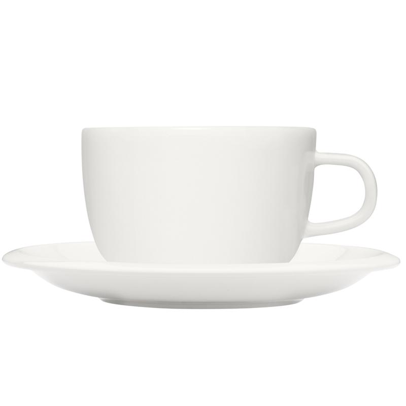 Tasse 270 ml und Untertasse 16 cm - Weiss Raami Iittala