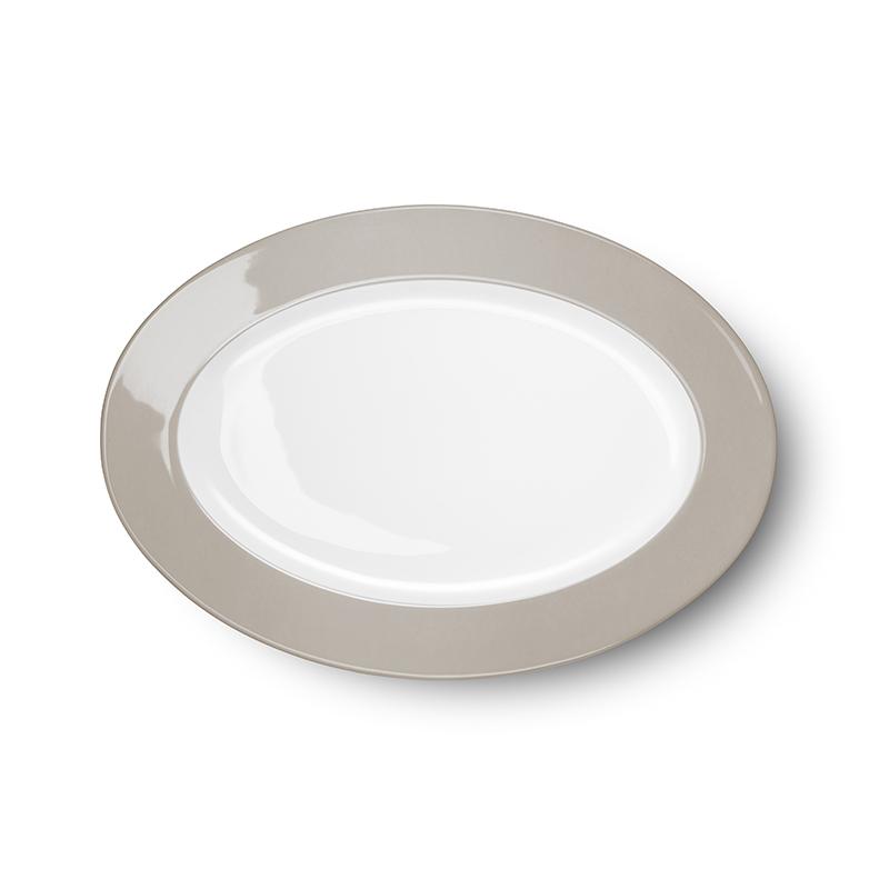 Platte oval 29 cm Solid Color Kiesel Dibbern