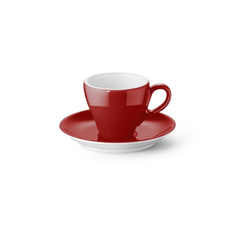 Espresso-Obertasse 0,09 l Classico Solid Color Paprika Dibbern
