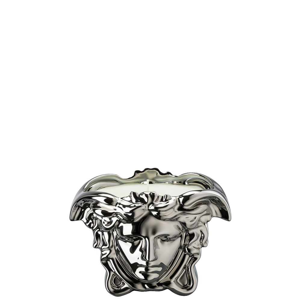 Tischlicht mit Duftwachs Medusa Grande Silver Versace by Rosenthal