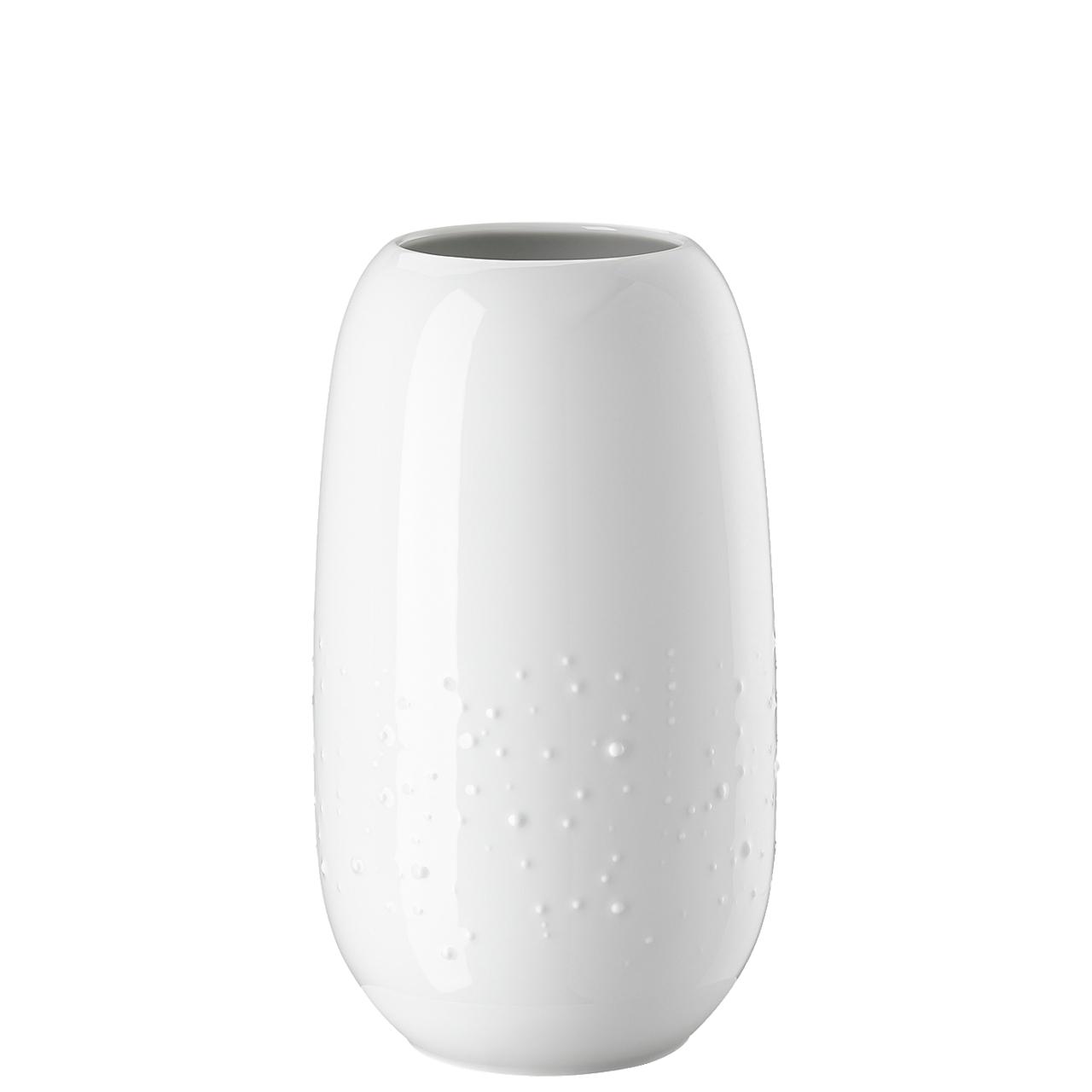 Vase 25 cm Vesi Droplets weiss