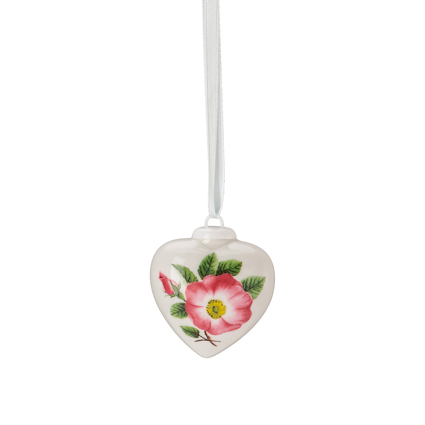 Porzellan-Mini-Herz Frühlingsgrüsse Heckenrose - pink Hutschenreuther