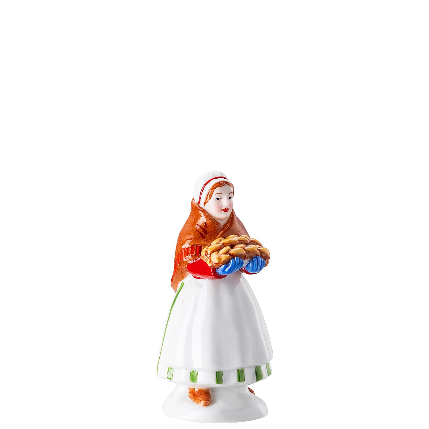 Marktfrau Figuren Weihnachtsbäckerei Hutschenreuther
