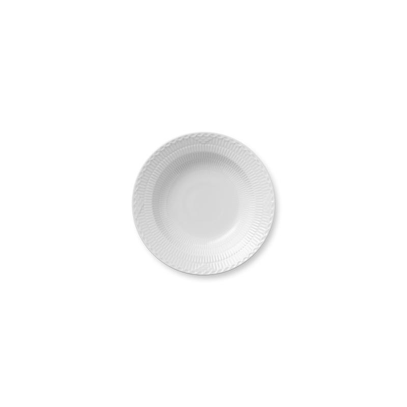 Half Lace Suppenteller - 21 cm White Fluted Half Lace Royal Copenhagen