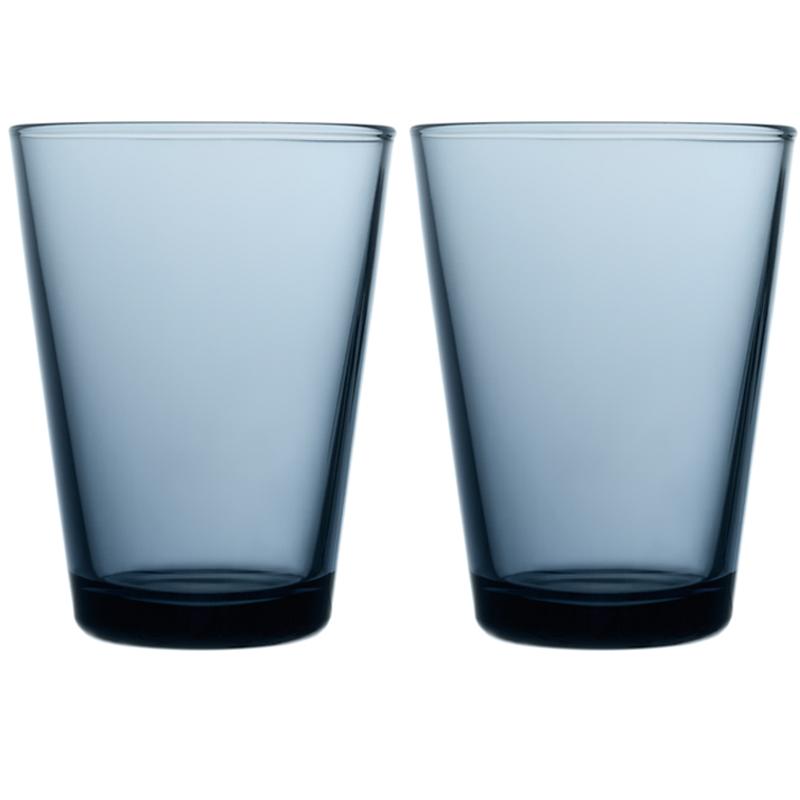 Glass - 400 ml - Regenblau - 2 Stück Kartio Iittala