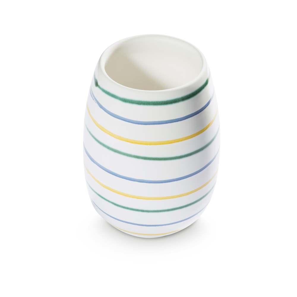 Vase (H: 15cm) Gelbgeflammt Gmundner Keramik