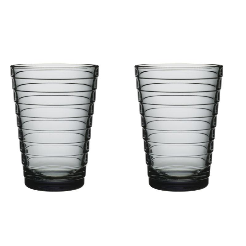 Glass – 330 ml - Grau - 2 Stück Aino Aalto Iittala