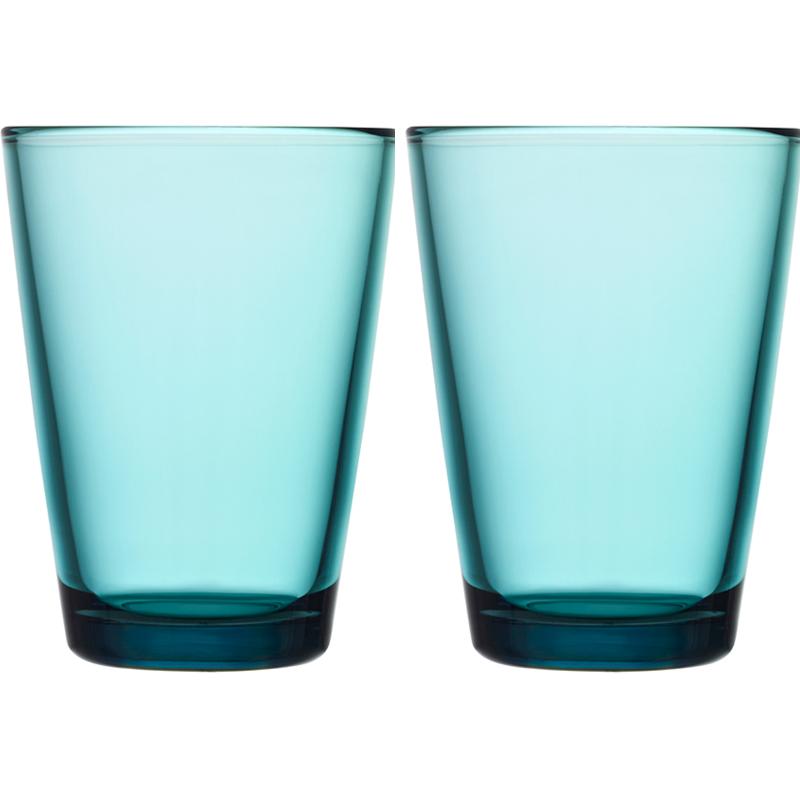 Glass – 400 ml - Seeblau - 2 Stück Kartio Iittala