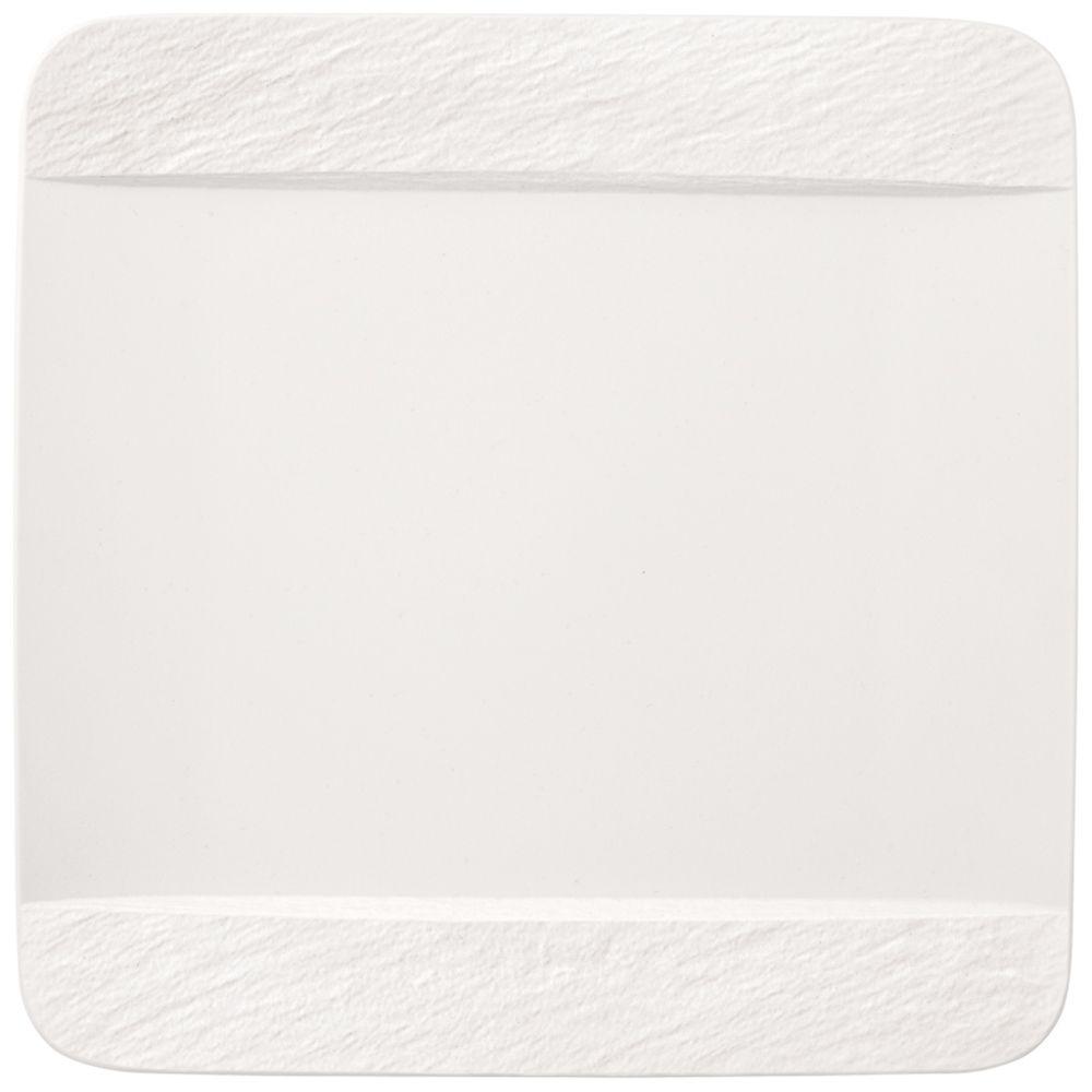 Speiseteller quadratisch 28x28x2cm Manufacture Rock blanc Villeroy und Boch