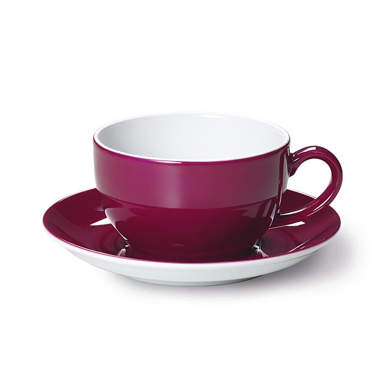 Cappuccino-Obertasse 0,30 l Solid Color Bordeaux Dibbern