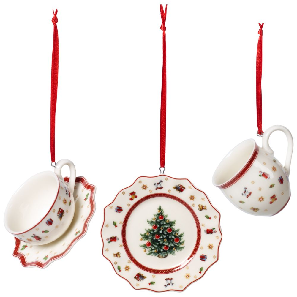 Ornamente Geschirrset 3tlg. 6,3cm Toy's Delight Decoration Villeroy und Boch