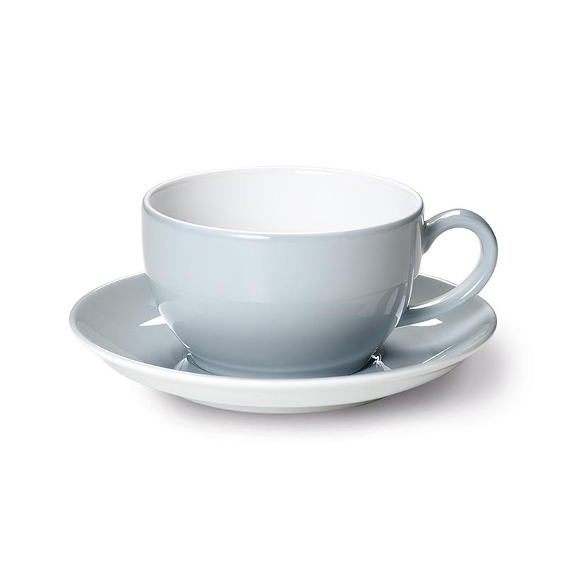 Cappuccino-Obertasse 0,30 l Solid Color Lichtgrau Dibbern