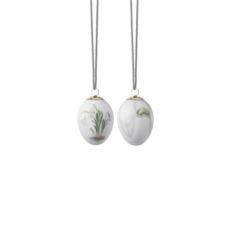 Osterei Schneeglöckchen & Schneeglöckchen Blütenblätter, 2 Stück Spring Collection Royal Copenhagen