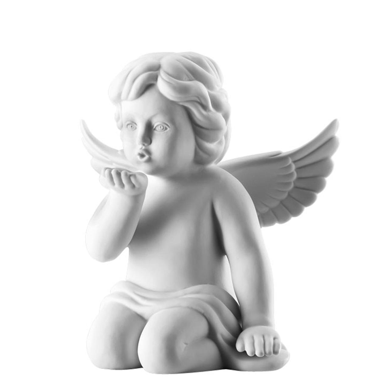 Engel Handkuss Engel groß Weiss matt Rosenthal