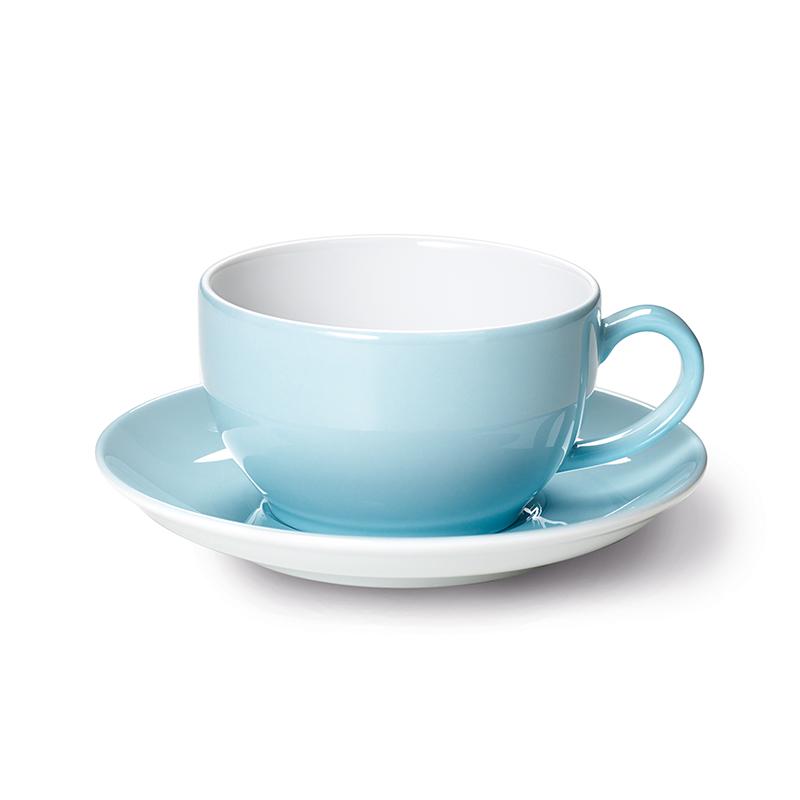 Cappuccino-Obertasse 0,30 l Solid Color Eisblau Dibbern