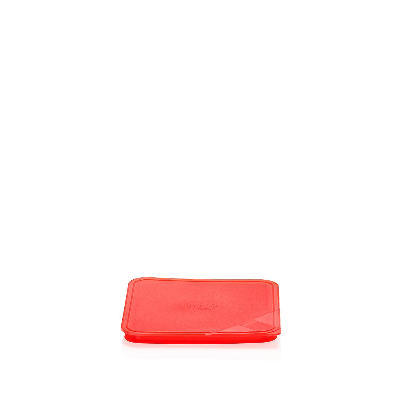 Aromadeckel quadratisch 15 cm Küchenfreunde Kunststoff rot Arzberg