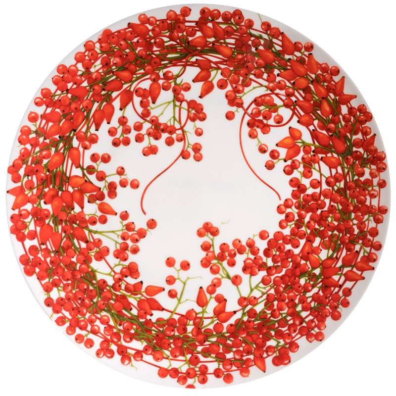 Platte 31 cm Bacche Fil Rouge Taitù